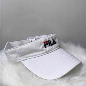 NWOTs FILA • White Embroidered Logo Visor Cap Hat